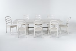 Martin 9 Piece Dining Set With Wood Side Chairs