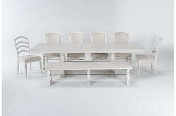 Martin 8 Piece Dining Set With 4 Upholstered Side Chairs