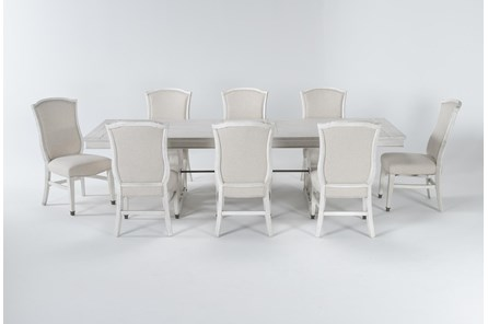 Martin 9 Piece Dining Set With Upholstered Side Chairs - Main