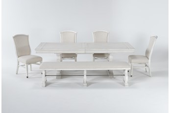 Martin 6 Piece Dining Set With Upholstered Side Chairs