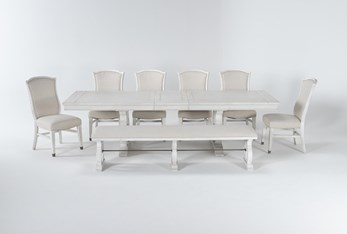 Martin 8 Piece Dining Set With Upholstered Side Chairs