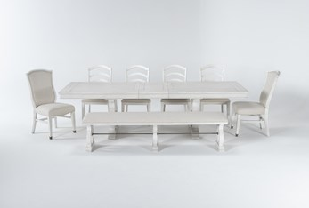 Martin 8 Piece Dining Set With 4 Wood Side Chairs