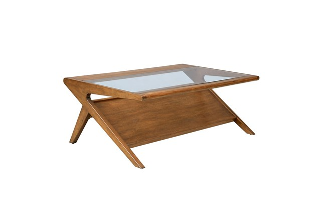INK+IVY Rocket Coffee Table with Tempered Glass - 360
