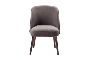 Madison Park Oda Charcoal Rounded Back Dining Side Chair