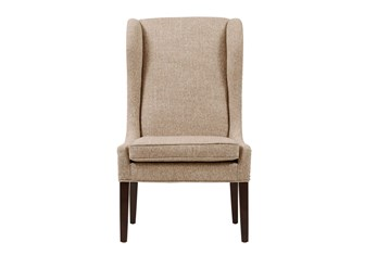 Edward Beige Wingback Dining Chair