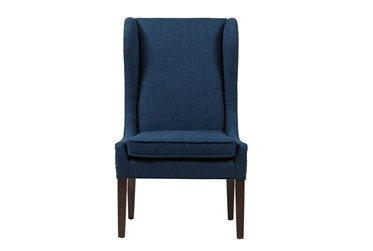 Edward Navy Wingback Dining Chair