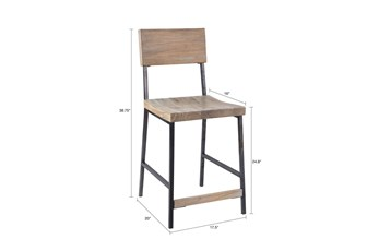 Ink+Ivy Tacoma Grey 24 Inch Counter Stool
