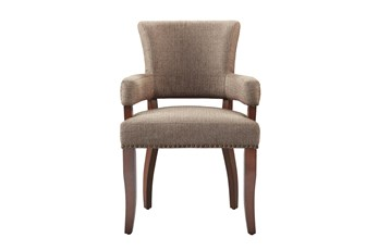 Madison Park Bracken Brown Dining Arm Chair
