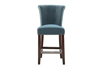 "Madison Park Lorsted Blue 26"" Counter Stool"