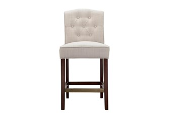 "Madison Park Khloe Tan Tufted 26"" Counter Stool"
