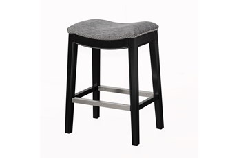 "Madison Park Westly Saddle Grey 27"" Counter Stool"