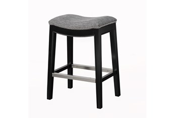 """Ethan Grey 27"""" Backless Counter Stool"""