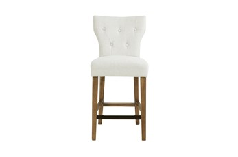 Madison Park Saffron Cream 26 Inch Tufted Back Counter Stool