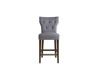 "Madison Park Saffron Grey 26"" Tufted Back Counter Stool"