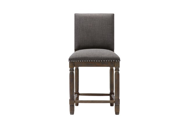 Madison Park Wells Grey 25 Inch Counter Stool - 360
