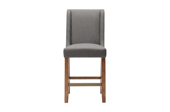 Madison Park Taye Grey 25 Inch Wing Counter Stool