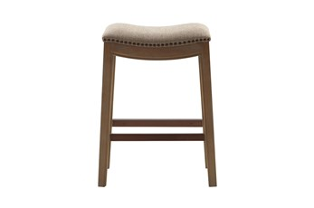 Madison Park Westly Saddle Linen 27 Inch Counter Stool