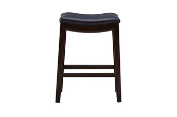 "Madison Park Westly Saddle Navy 27"" Counter Stool"