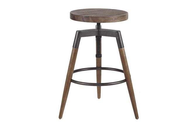 Liam Backless Adjustable Bar Stool - 360