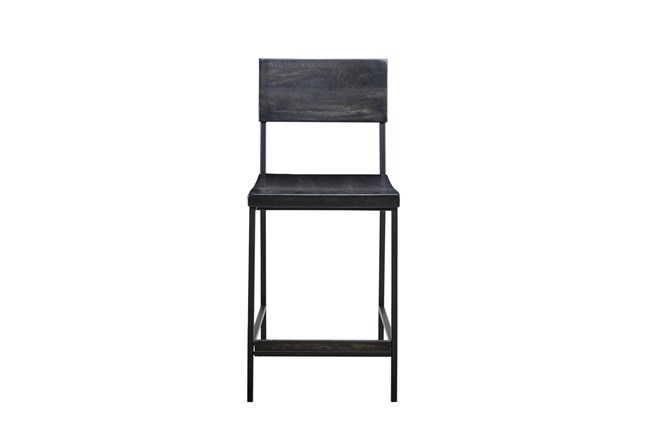 Ink+Ivy Tacoma Black 24 Inch Counter Stool - 360