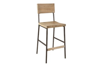 Ink+Ivy Tacoma Grey 29 Inch Bar Stool