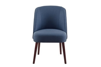 Madison Park Oda Blue Rounded Back Dining Side Chair