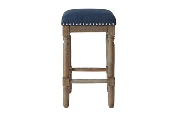 Madison Park Wells Navy 26 Inch Counter Stool Set Of 2
