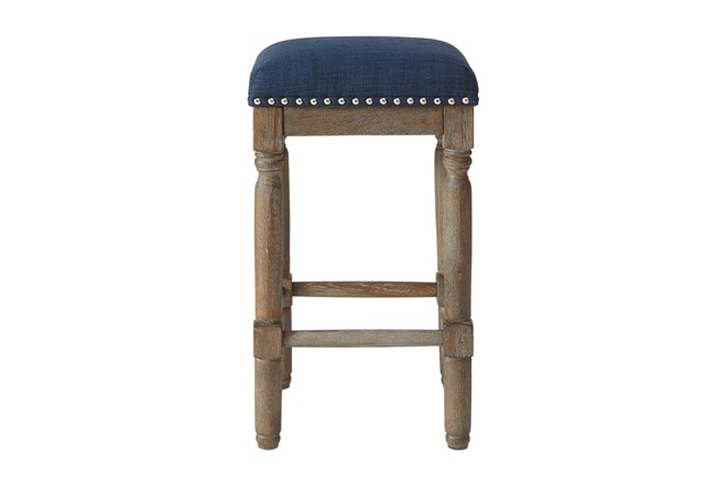 Madison Park Wells Navy 26 Inch Counter Stool Set Of 2 - 360