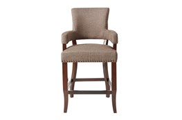 "Madison Park Bracken Arm Brown 26"" Counter Stool"