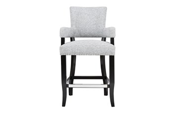 "Madison Park Bracken Arm Grey 26"" Counter Stool"