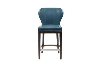 "Madison Park Bally Blue 26"" Counter Stool"