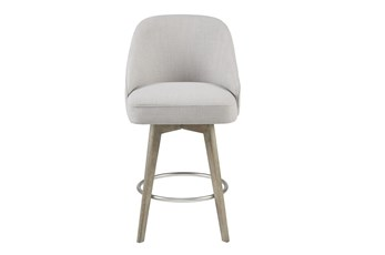 "Madison Park Howard Grey 26"" Swivel Counter Stool"