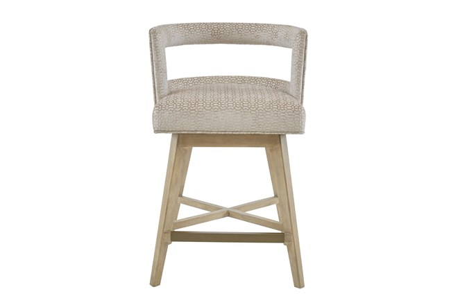 "Madison Park Farwell 25"" Swivel Counter Stool - 360"