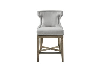 Madison Park Troy Grey 25 Inch Counter Stool