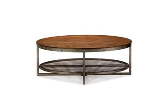 INK+IVY Sheridan Chestnut Oval Coffee Table