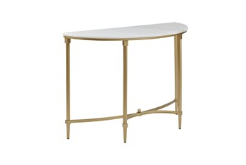 """Lilly 43"""" Demi Lune Console Table"""