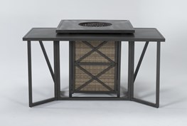 Capri Outdoor Firepit Bar Table With Bar Table