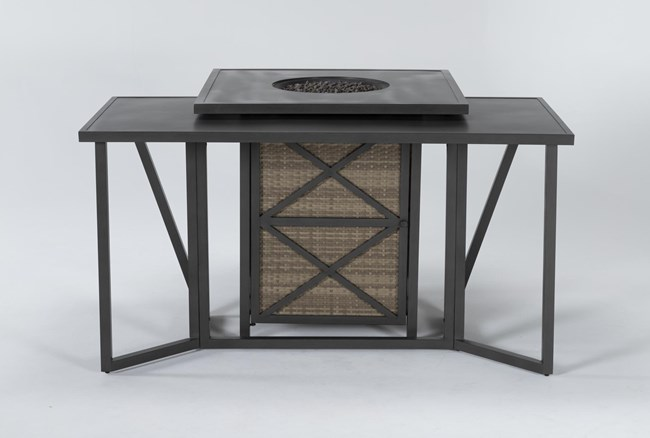 Capri Outdoor Firepit Bar Table With Bar Table - 360