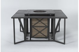 Capri Outdoor Firepit Bar Table With Two Bar Tables