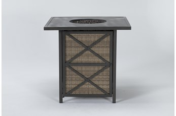 Capri Outdoor Firepit Bar Table
