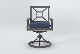 Martinique Outdoor Dining Swivel Arm Chair