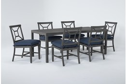 Martinique Outdoor 7 Piece Dining Set With Side Chairs