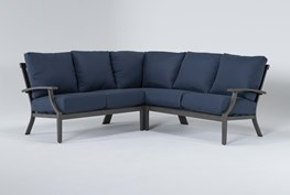 """Martinique Outdoor 3 Piece 85"""" Sectional"""