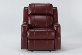 Bilbao Red Power Glider Recliner With Massage And Power Headrest