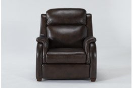 Cordoba Chocolate Leather Zero Gravity Power Recliner With Massage, Power Headrest and Power Lumbar