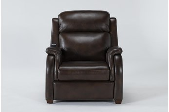 Cordoba Chocolate Leather Zero Gravity Power Recliner With Massage, Power Headrest and Power Lumbar