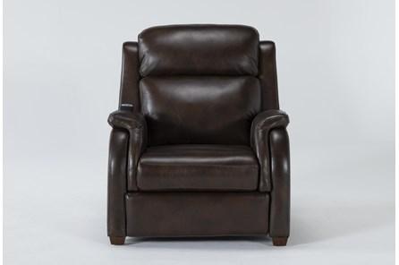 Cordoba Chocolate Leather Zero Gravity Power Recliner With Massage, Power Headrest and Power Lumbar - Main