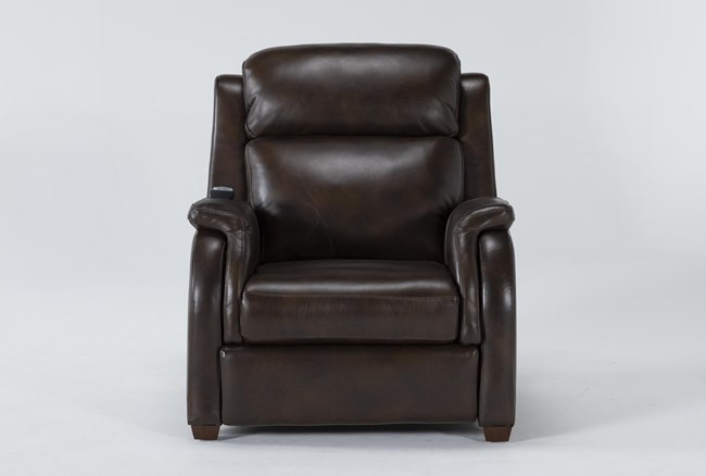 Cordoba Chocolate Leather Zero Gravity Power Recliner With Massage, Power Headrest and Power Lumbar - 360