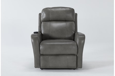 Seville Leather Power Lift Recliner With Massage & Power Headrest - Main