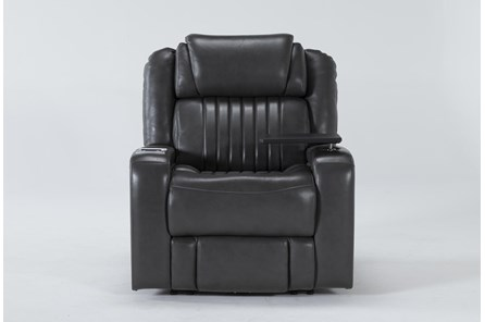 Madrid Leather Power Recliner With Power Headrest, Power Lumbar, Wireless Charging And Table - Main